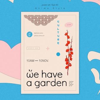 Flyer sjabloon voor bloementuin