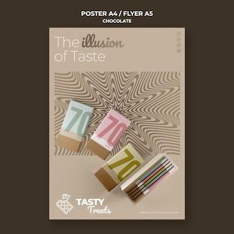 Flyer-sjabloon voor chocolade
