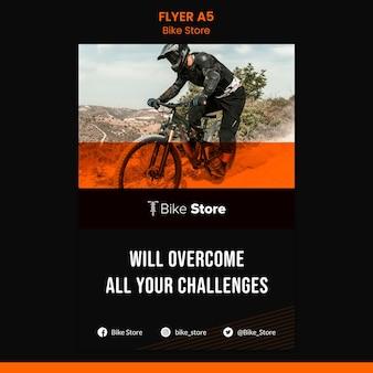 Flyer-sjabloon voor fietsenwinkel