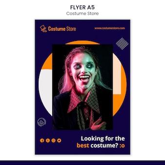 Flyer-sjabloon voor halloween-kostuums