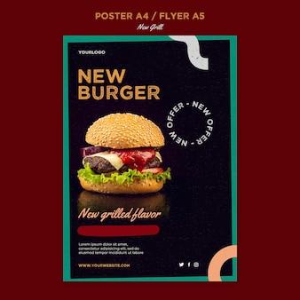 Flyer-sjabloon voor hamburgerrestaurant