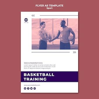 Flyer-sjabloon voor het spelen van basketbal