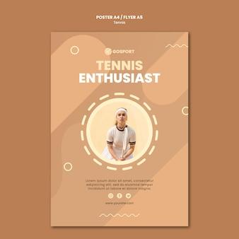 Flyer-sjabloon voor het spelen van tennis