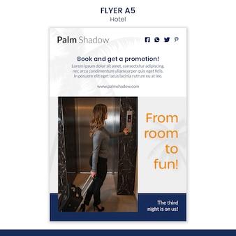 Flyer-sjabloon voor hotelreservering
