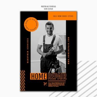 Flyer-sjabloon voor huisreparatiebedrijf