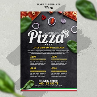Flyer-sjabloon voor italiaans pizzarestaurant