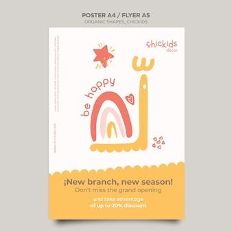 Flyer sjabloon voor kinderen interieurwinkel