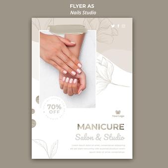 Flyer-sjabloon voor nagelsalon