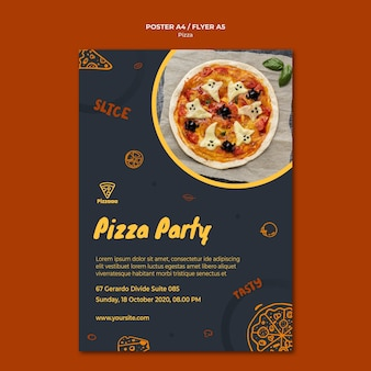Flyer sjabloon voor pizza restaurant