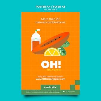 Flyer-sjabloon voor recepten voor fruitsmoothies