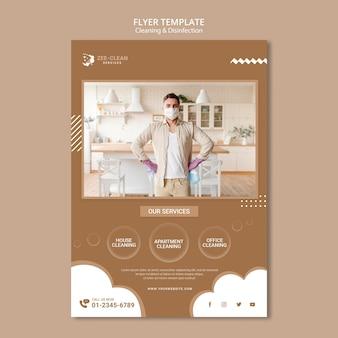 Flyer-sjabloon voor reiniging en desinfectie