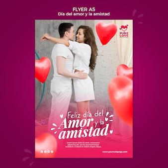 Flyer sjabloon voor valentijnsdag viering