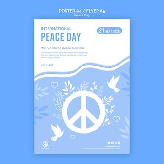 Flyer-sjabloon voor vredesdag