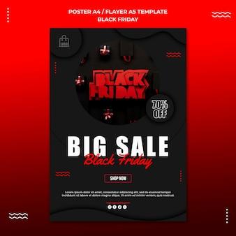 Flyer sjabloon voor zwarte vrijdag verkoop
