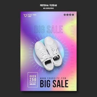 Flyer sneakers verkoop sjabloon
