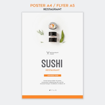 Flyer sushi restaurant sjabloon