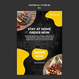 Flyer voor barbecuerestaurant