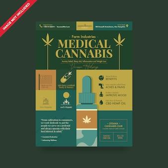 Flyer voor cannabis hennepolie
