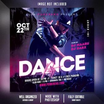 Flyer voor clubavondfeest