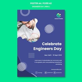 Flyer voor de viering van de ingenieursdag
