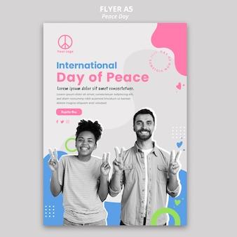 Flyer voor de viering van de internationale vredesdag