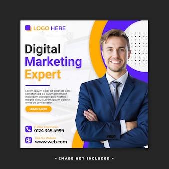 Flyer voor digitaal marketingbureau premium psd