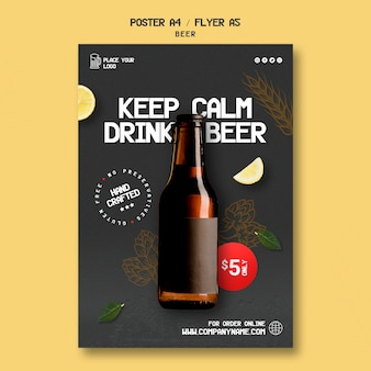 Flyer voor het drinken van bier