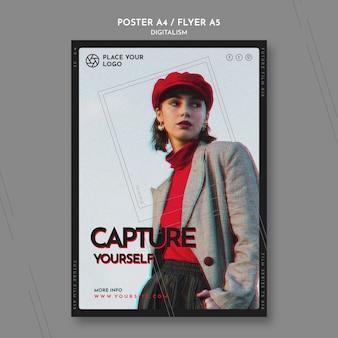 Flyer voor het thema van jezelf vastleggen