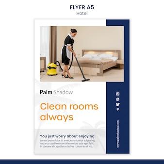Flyer voor hotelreservering