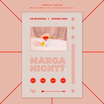 Flyer voor margarita-cocktaildrank