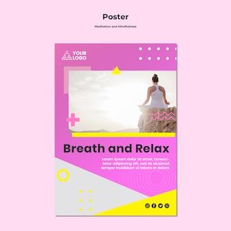Flyer voor meditatie en mindfulness