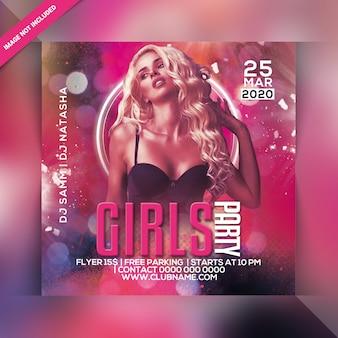 Flyer voor meisjes