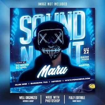 Flyer voor nachtclubfeesten