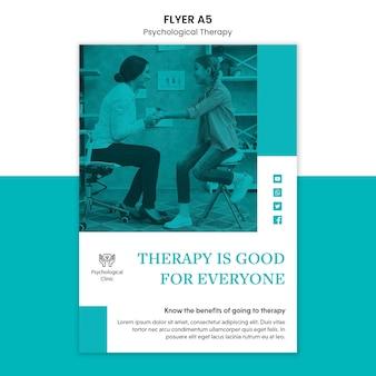 Flyer voor psychologische therapie