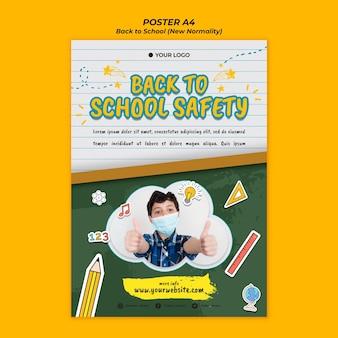 Flyer voor terug naar schoolseizoen