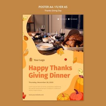 Flyer voor thanksgiving-viering