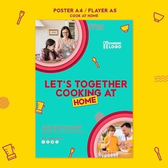 Flyer voor thuis koken