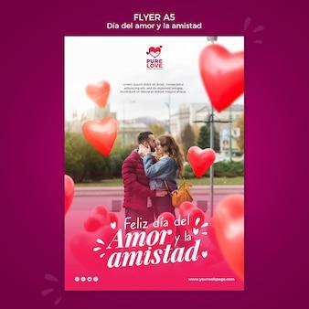 Flyer voor valentijnsdagviering