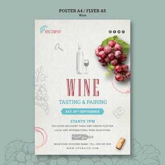 Flyer voor wijnproeven