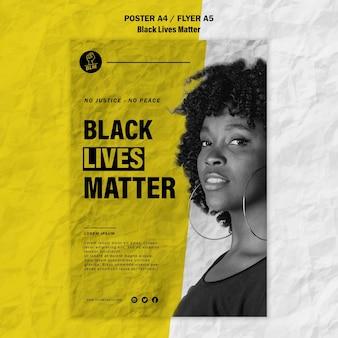 Flyer voor zwart leven is belangrijk