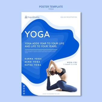 Flyer para yoga fitness