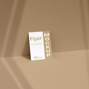 Flyermodel met realistische schaduw