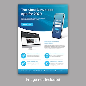 Flyers voor app-promotie