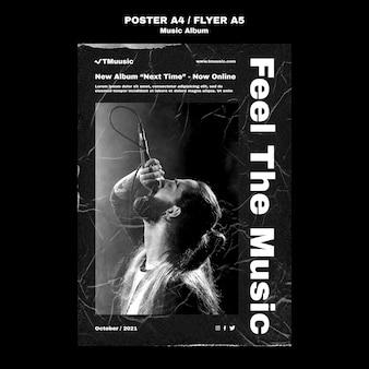 Flyersjabloon voor release van muziekalbum