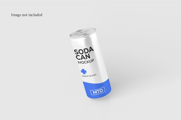 Flying soda can mockup