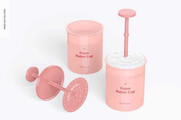 Foam maker cup mockup
