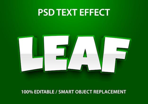 Foglia effetto testo modificabile