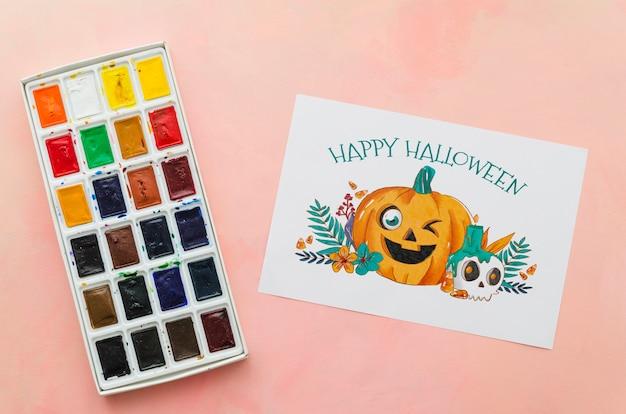 Foglio di carta con il concetto di halloween