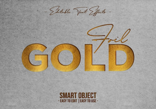Foil-gold-text-style-effect