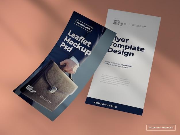 Folder flyer mockup met volledig bewerkbaar ontwerp